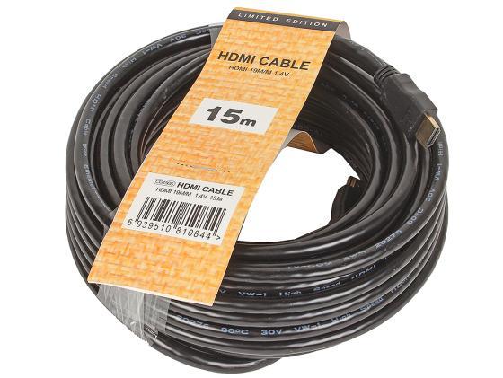 Кабель HDMI 15м VCOM Telecom CG150S-15M/CG501N-15M круглый черный профессиональная пассивная акустика eurosound port 15m