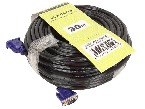 Кабель VGA 30.0м VCOM Telecom 2 фильтра QCG120H-30M кабель vga m vga f 1 8м vcom telecom 2 фильтра qcg342ad