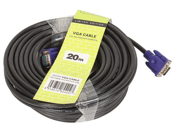 Кабель VGA 20.0м VCOM Telecom 2 фильтра QCG120H-20M кабель vga 50м vcom telecom 2 фильтра vvg6448 50m carton packing