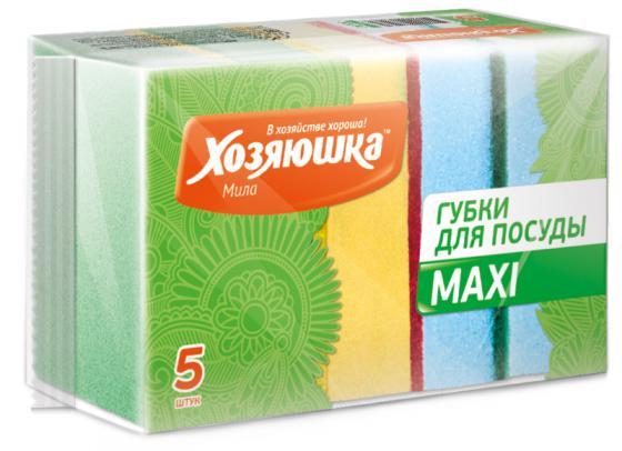 Губка для посуды Хозяюшка Мила MAXI 01002 хозяюшка мила губка для тефлоновой посуды пчелка в вакуумной упаковке 2 шт 100шт 01020 100