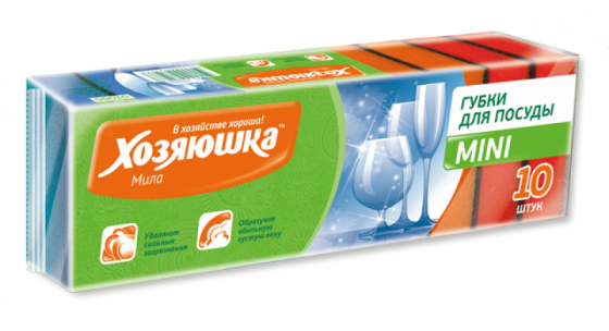 Губка для посуды Хозяюшка Мила MINI 01005 цена и фото