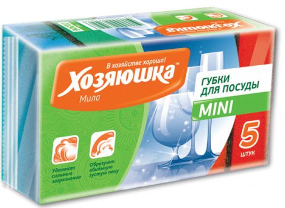 Губка для посуды Хозяюшка Мила MINI 01006 хозяюшка мила губка для тефлоновой посуды пчелка в вакуумной упаковке 2 шт 100шт 01020 100