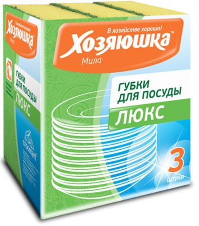 цена на Губка для посуды Хозяюшка Мила Люкс 01011