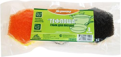 цена на Губка для посуды Хозяюшка Мила Тефлоша 01013-100