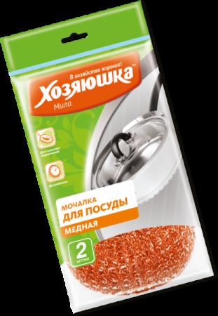 Фото - Мочалка для посуды Хозяюшка Мила 02012 мочалка для посуды хозяюшка мила стальная 2 шт