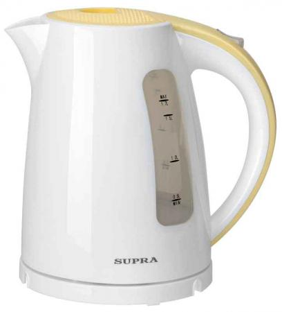 Чайник Supra KES-1726 2200 Вт 1.7 л пластик белый жёлтый
