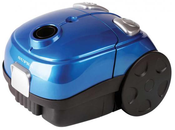 Пылесос SUPRA VCS-1602 c мешком сухая уборка 1600Вт синий пылесос supra vcs 1602 blue