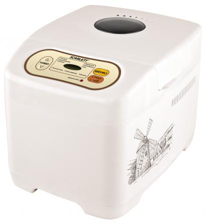 Хлебопечь Scarlett SC-BM40002 9 программ 530Вт белый масляный радиатор scarlett sc oh67b03 9 black