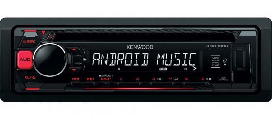 Автомагнитола Kenwood KDC-100UR USB MP3 CD FM RDS 1DIN 4х50Вт черный автомагнитола kenwood kmm 103ry usb mp3 fm rds 1din 4х50вт черный