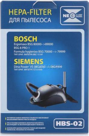 Фильтр для пылесоса NeoLux HBS-02 для Bosch/Siemens фильтр для пылесоса bosch bbz10tfp