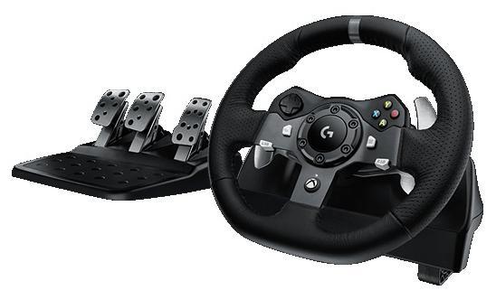 Руль педали Logitech G920 Driving Force 941-000123 руль 941 000123 logitech g920 driving force racing wheel usb