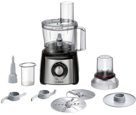 Кухонный комбайн Bosch MCM3401M 800Вт черно-серебристый кухонный комбайн bosch mcm3110w 800вт белый