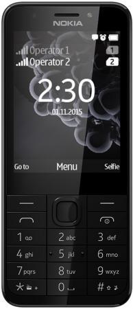 Мобильный телефон NOKIA 230 Dual Sim черный серый 2.8 мобильный телефон nokia 230 dual sim черный серый a00026971