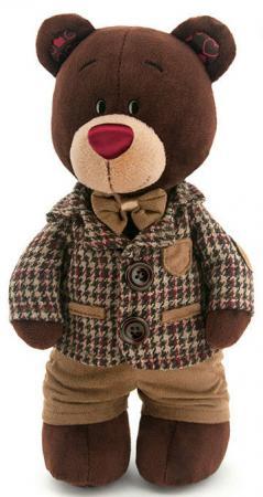 Мягкая игрушка медведь Orange Choco в клетчатом пиджаке 30 см коричневый текстиль С5047/30 мягкая игрушка choco