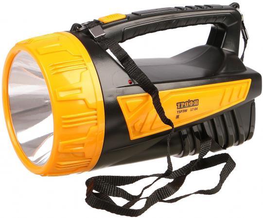 Фонарь прожектор ТРОФИ TSP3W чёрный оранжевый