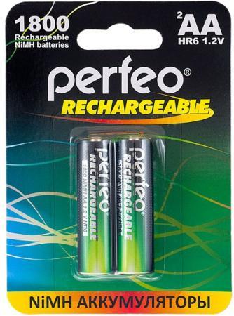 Аккумуляторы 1800 mAh Perfeo AA1800mAh/2BL AA 2 шт аккумуляторы perfeo aa2100mah 2bl 2100 mah aa 2 шт