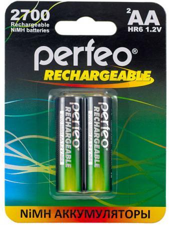 Аккумуляторы 2700 mAh Perfeo AA2700/2BL AA 2 шт аккумуляторы perfeo aa2500 2bl 2500 mah aa 2 шт