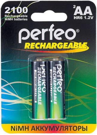 Аккумуляторы 2100 mAh Perfeo AA2100mAh/2BL AA 2 шт аккумуляторы perfeo aa2100mah 2bl 2100 mah aa 2 шт