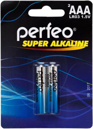 Батарейки Perfeo LR03/2BL Super Alkaline AAA 2 шт батарейки panasonic everyday power silver aaa 2 шт