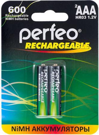Аккумуляторы 600 mAh Perfeo AAA600/2BL AAA 2 шт аккумуляторы perfeo aa2500 2bl 2500 mah aa 2 шт