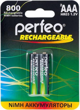 Аккумуляторы 800 mAh Perfeo AAA800/2BL AAA 2 шт аккумуляторы perfeo aa2100mah 2bl 2100 mah aa 2 шт