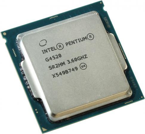 Процессор Intel Pentium G4520 3.6GHz 3Mb Socket 1151 BOX процессор intel cpu pentium 925 930 3 0g