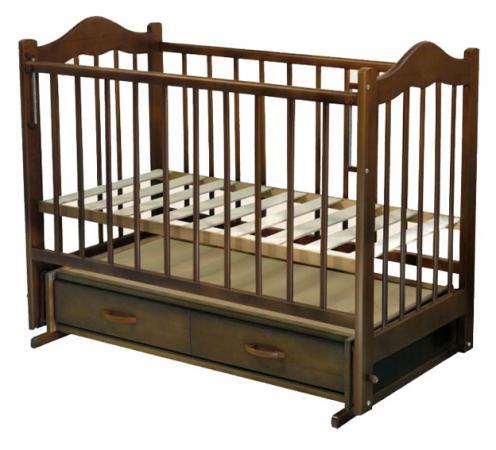 Кроватка с маятником Ведрус Кира 4 (вишня) обычная кроватка ведрусс кира 4 орех