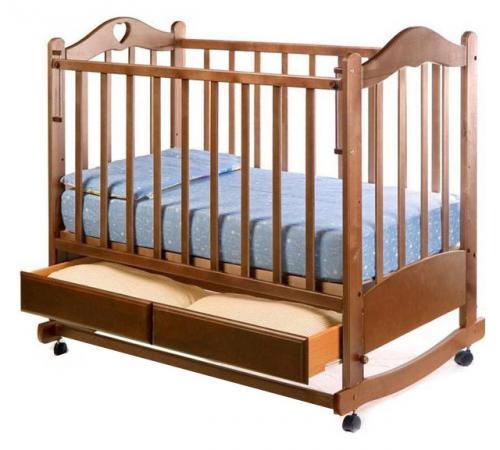 Кроватка-качалка Ведрус Лана 2 (орех) обычная кроватка ведрусс лана 2 темный орех