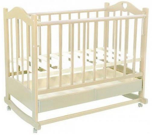 Кроватка-качалка Ведрус Лана 2 (слоновая кость) обычная кроватка ведрусс лана 2 сердечко орех
