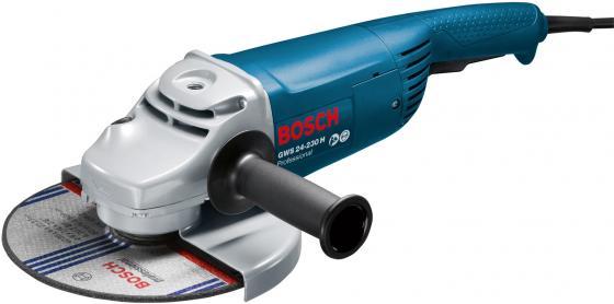 Угловая шлифмашина Bosch GWS 24-230 H 2400Вт 230мм угловая шлифовальная машина bosch gws 20 230 h 0 601 850 107