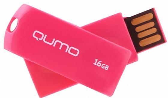 Флешка USB 16Gb QUMO 16GB Twist Cerise QM16GUD-TW-Cerise флешка usb 16gb qumo click usb2 0 бело фиолетовый qm16gud clk violet