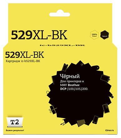 Фото - Картридж T2 IC-B529XL-BK для для Brother DCP-J100/J105/J200 1300стр Черный картридж t2 ic b529xl bk совместимый