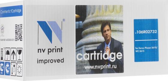 Фото - Картридж NV-Print 106R02732 для Xerox Phaser 3610 черный 25300стр картридж nv print 108r00796 для xerox phaser 3635 10000k