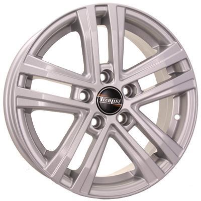 Диск Tech Line 545 6x15 5x100 ET40 Silver колесные диски n2o y4917 6x15 4x100 d56 6 et40 s