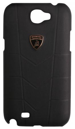 цена на Кожаный клип-кейс для Samsung Galaxy Note II Lamborghini  Aventador черный LB-HCN7100-AV/D1-BK