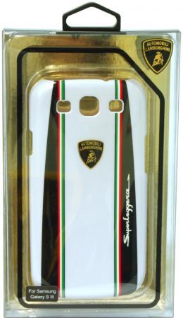 Пластиковый чехол Lamborghini Superlegerra-D1 для Samsung Galaxy S3 (белый)