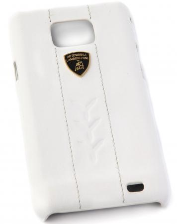 Кожаный клип-кейс для Samsung Galaxy S2 Lamborghini Performate-D1 (белый)
