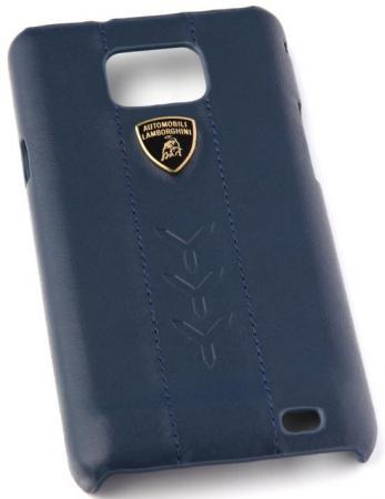 цена на Кожаный клип-кейс для Samsung Galaxy S2 Performate-D1 Lamborghini (синий)