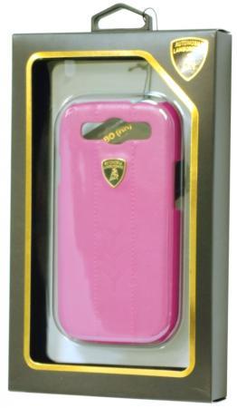 Кожаный клип-кейс для Samsung Galaxy S3 Lamborghini Performate-D1 (розовый)