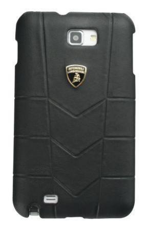 Кожаный клип-кейс для Samsung Galaxy Note Lamborghini Aventador-D1 (черный)