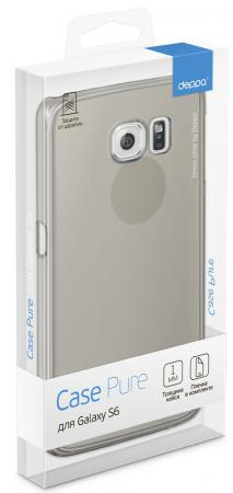 Чехол Deppa Pure Case и защитная пленка для Samsung Galaxy S6 с защитным нанесением hard coating черный - прозрачный 69010 чехол аккумулятор deppa nrg case 2600 mah для iphone 7 белый 33520