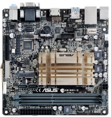 Материнская плата ASUS N3150I-C с процессором Intel 2xDDR3 1xPCI-E 4x 2xSATAIII mini-ITX Retail материнская плата asus h81m r c si h81 socket 1150 2xddr3 2xsata3 1xpci e16x 2xusb3 0 d sub dvi vga glan matx