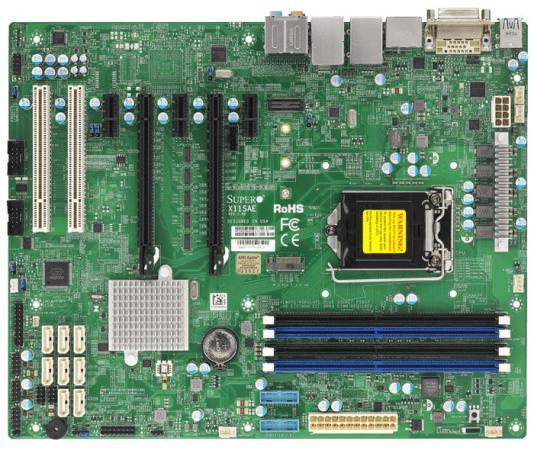 Материнская плата Supermicro MBD-X11SAE-O Socket 1151 C236 4xDDR4 2xPCI-E 16x 2xPCI 1xPCI-E 1x 8xSATAIII ATX материнская плата supermicro mbd x11ssz f o socket 1151 c236 4xddr4 1xpci e 16x 2xpci e 4x 4xsataiii