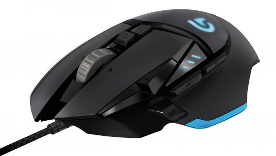 Мышь проводная Logitech G502 Laser Gaming Mouse Proteus Spectrum чёрный USB 910-004617 игровая мышь logitech g502 proteus spectrum rgb