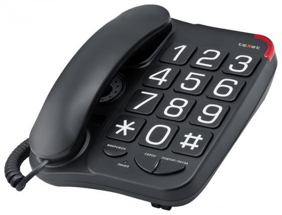 Телефон проводной Texet TX-201 черный телефон