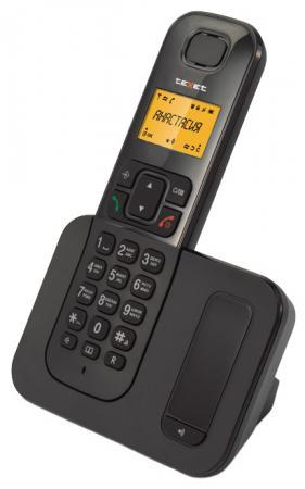 Радиотелефон DECT Texet TX-D6605A черный радиотелефон dect texet tx d6705a черный