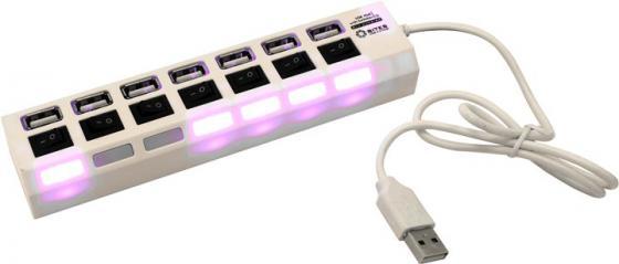 Концентратор USB 2.0 5bites HB27-203PWH 7 x USB 2.0 белый хаб usb 5bites hb27 203pwh usb 7 ports white