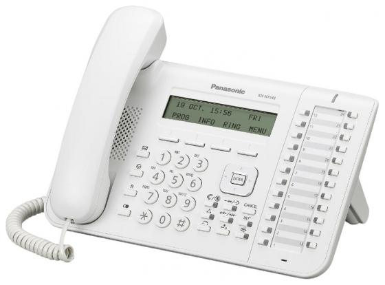 Телефон IP Panasonic KX-NT543RU белый телефон ip panasonic kx nt556rub черный