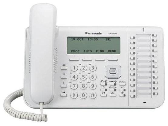 Телефон IP Panasonic KX-NT546RU белый телефон panasonic kx dt546rub черный