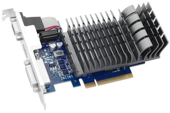 Видеокарта 2048Mb ASUS GeForce GT 710 PCI-E DVI HDMI CRT HDCP GT 710-2-SL Retail видеокарта 2048mb powercolor hd5450 pci e dvi hdmi ax5450 2gbk3 shv7e retail